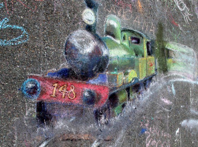 chalk-train