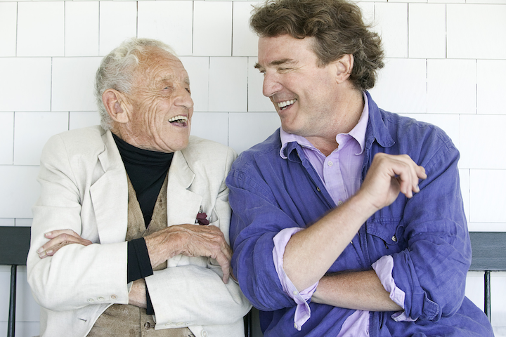Image of Andrew and Jamie Wyeth by Peter Ralston